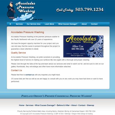 Accolades Pressure Washing Screenshot