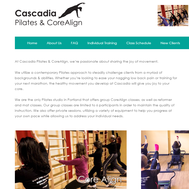 Cascadia Pilates Screenshot