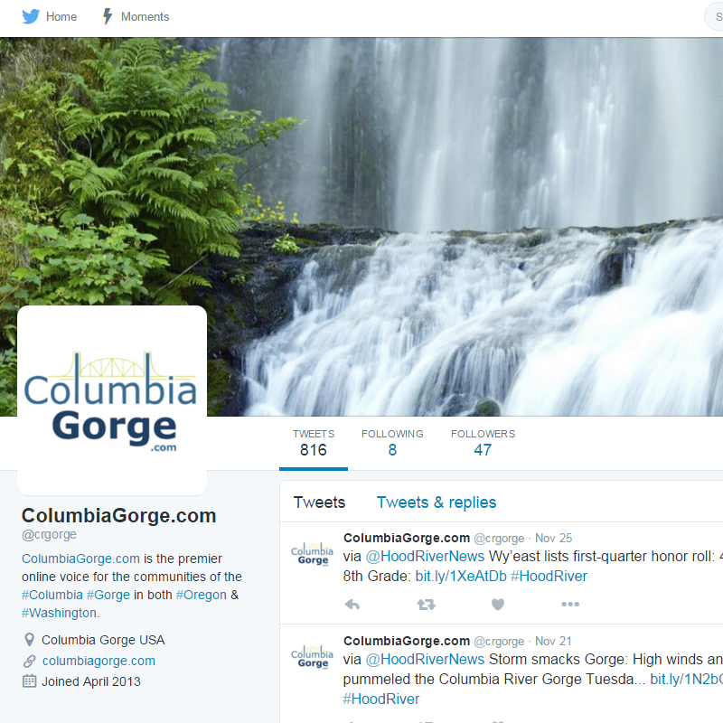 Columbia Gorge Twitter