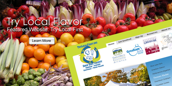 Try Local Flavor. Featured Website: Try Local First.